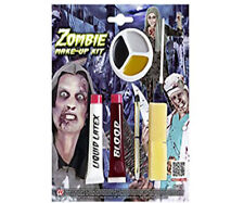 ZOMBIE HALLOWEEN MAKEUP KIT Scary Horror Special FX Costume Make up Set 01144