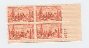 block of 4 GADSDEN PURCHASE CENTENNIAL stamps - Scott #1028 US USA MNH 1953 OG