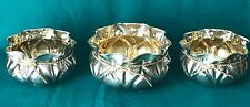 Set of Three 900 Silver Dishes in the Shape of Sacks
