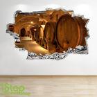 Wine Cellar Wall Sticker 3d Look - Bedroom Lounge Wine Beer Wall Decal Z559 photo