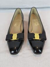 Pair of Ferragamo Varina Bow Buckle Flats Size 6 ½ AA Style DF32204520