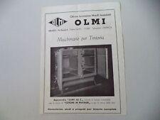 advertising Pubblicità 1948 OLMI OFFICINE LAVORAZIONI METALLI - MILANO