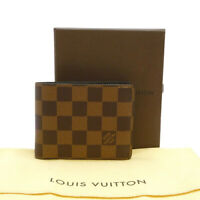 Authentic LOUIS VUITTON Portefeuille Slender Wallet Damier Ebene N61208 #S312035
