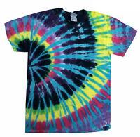 Tie Dye T-Shirts Multi-Color Flashback S M L XL 2XL 3XL  Cotton Colortone-Gildan