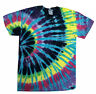 Tie Dye T-Shirts Multi-Color Flashback S M L XL 2XL 3XL  Cotton Colortone-Gildan