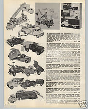 1959 PAPER AD Tonka Structo Toy Sanitation Truck Ride Em Jeep Car Carrier Hauler