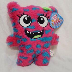 "Girl Monster Plush Stuffed Animal Pink Blue 11"" Toy Kellytoy Sugar Loaf"