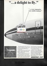 BOEING AIRCRAFT COMPANY 1967 BOEING 737-100 A DELIGHT TO FLY-VERY RESPONSIVE AD