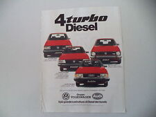 advertising Pubblicità 1982 VOLKSWAGEN JETTA/PASSAT/GOLF/AUDI 80