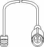 Sensor Bremsbelagverschleiß - Topran 500 662