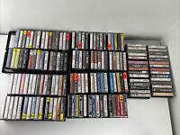 Cassette Lot Of 150 Cassette Tapes Rock Metal 80s U2 Whitesnake + Cases!