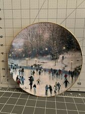 "Vintage Thomas Kinkade ""Skater's Delight"" Knowles Collector plate"
