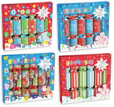 """Party Game Christmas Crackers Box Of 6 Includes Joke Hat & Family Table Game 9"""""""