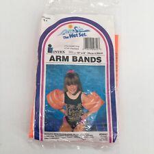 Vintage 90s 1993 Intex The Wet Set Swim Floaties Arm Bands Orange Age 6+ 59642