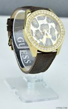 FREE Ship USA Ladies Watch GUESS Brown Leather New U0056L2 Prime