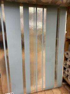 fine decor foils dl40459 metallic strip duck egg