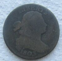 1803 1C BN Draped Bust Large Cent Full Date Minor Scratches