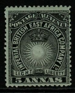 BRITISH EAST AFRICA SG29 1895 5a BLACK/GREY-BLUE MTD MINT