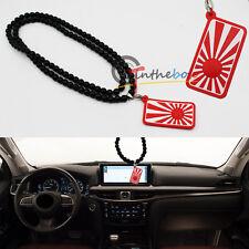 (1) JDM Rising Sun Japan Flag Car Auto Rearview Mirror Hanging Ornament Pendant