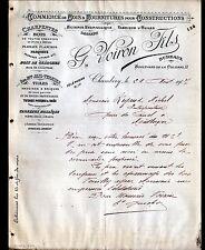 """CHAMBERY(73) BOIS TUILES HUILES POTERIE CARREAUX de MOSAIQUE """"G. VOIRON"""" en 1907"""