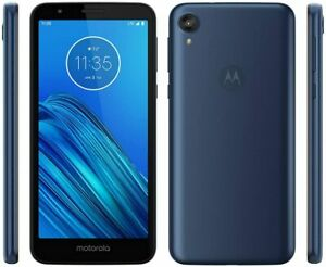 New Motorola Moto E6 - 16GB - Blue (T-Mobile - GSM Unlocked) Smartphone open box