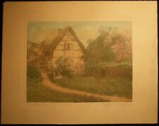 CIRCA 1915 WALLACE NUTTING HAWTHORNSIDE LARGER FORMAT HAND COLORED PHOTOGRAPH