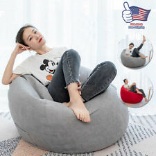 Large Bean Bag Chair Couch Sofa Cover Indoor Lazy Lounger For Adult Kid Wash US