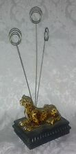 Cheetah 3 Arm Spiral Metal Clip Memo Card Name Hold Photo Organize Stand 10 x 4