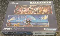 Clementoni Disney Panorama 2 x 1000 piece Jigsaw Puzzles *** New & Sealed ***