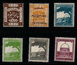 Palestine selection of 6 m/mint.