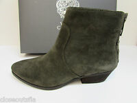 Vince Camuto Size 6.5 M Italian Olive Leather Ankle Boots New Womens Shoes