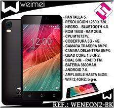 SMARTPHONE WEIMEI NEON 2 NEGRO 5 PULGADAS 16GB ROM 2GB RAM 8MP 4G QUADCORE LIBRE