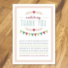 Personalised Thank you cards Christening Naming Day Baptism Birthday girl boy