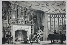Original antique Victorian print, SOUTHAM, GLOUCESTERSHIRE, Joseph Nash c.1840