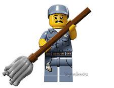 LEGO MINIFIGURES SERIE 15 - MINIFIGURA JANITOR 71011 - ORIGINAL MINIFIGURE