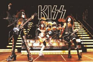 KISS LOVE GUN / ALIVE II Era 24 x 36 STAGE SHOT Custom Poster - Collectibles