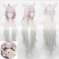 Fate grand order FGO Medusa Cosplay Hair Wig Widow/'s peak Custom-made 120cm Y79