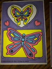 Vintage Mark I Bubble Gum scent Scratch and Sniff iron on patches butterfly