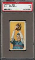 Rare 1909-11 T206 Dick Hoblitzell Old Mill Back Cincinnati PSA 3 VG