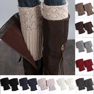 Women Knitted Trim Boot Cuffs Toppers Short Ankle Socks Winter Legs Warmers Sock