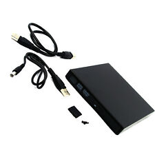 New External SATA Blu-Ray DVD CD RW Disc Drive Slim USB 2.0 Enclosure Case Caddy