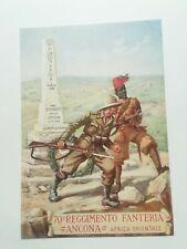 70° reggimento fanteria Ancona Africa orientale Coloniale ascari Cartolina