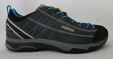 Asolo Womens Nucleon GV Hiking Shoes A40013 Graphite/Silver/Cayan Blue Size 8.5