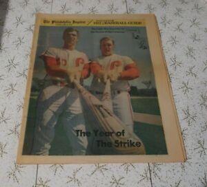 1972 The Philadelphia Inquirer Baseball Guide, Phillies, Luzinski cover,  36p