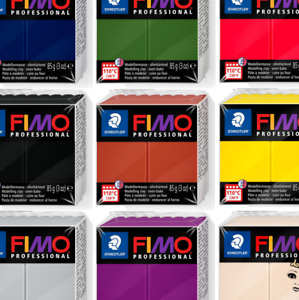 FIMO 85g Professional Polymer Modelling OVEN BAKE CLAY, 30 COLOURS INC DOLL ART