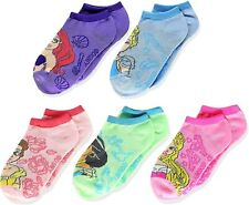 Disney Prinzessin Ariel Jasmin Belle 5-Pack Low Cut No-Show Socken Ages 1-3 Oder