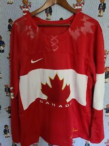 TEAM CANADA AUTHENTIC RED SOCHI 2014 OLYMPICS NIKE SWIFT HOCKEY JERSEY SIZE XL
