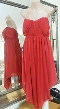 Marvin strapless dress.Sz10.Dsgnd & Md in Aus.Silk draped in chiffon.VGC