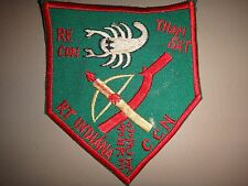 Vietnam War Patch RT INDIANA CCN RECON 5th Special Forces Group MACV-SOG Team