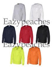 Gildan NEW Mens S-3XL 4XL 5XL ULTRA COTTON Long Sleeve Pocket T-shirt Tee 2410